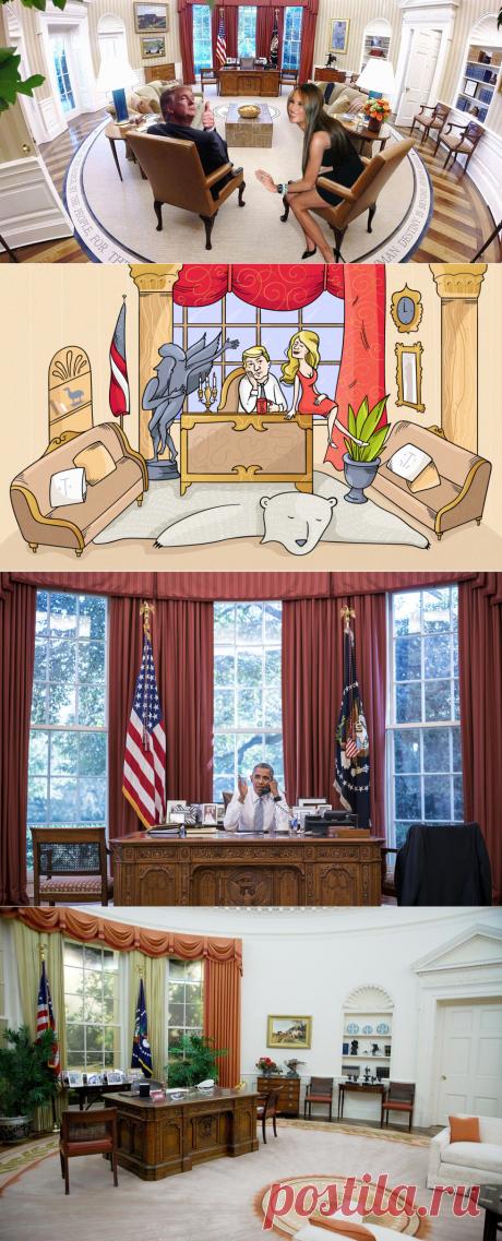 """""""Новая метла"""" Белого дома. Как будет выглядеть Овальный кабинет Трампа - «L!fe» — информационный портал"""