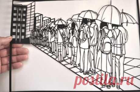 Дедушка из Пскова делает невероятные картины из бумаги Пользователь твиттера Виктор Кушнаренко восхитил интернет своими этюдами, которые он в свободное время вырезает из бумаги. По словам жителя Пскова, на каждую картину затрачено от 8 до 80 часов кропотл...