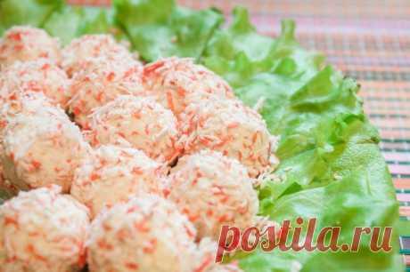 Сырные шарики с крабовыми палочками. — Sloosh – кулинарные рецепты