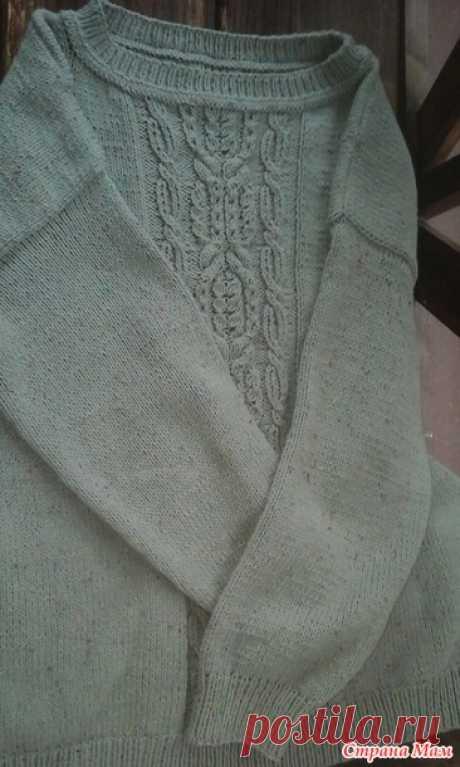 Пуловер из Ализе коттон твид - Хенд-Мейд | HANDMADE - Страна Мам
