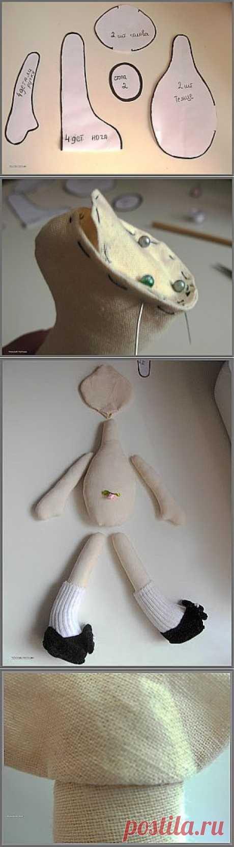 Рукотворные штучки: Мк основы для начинающих шить Кукла Снежка