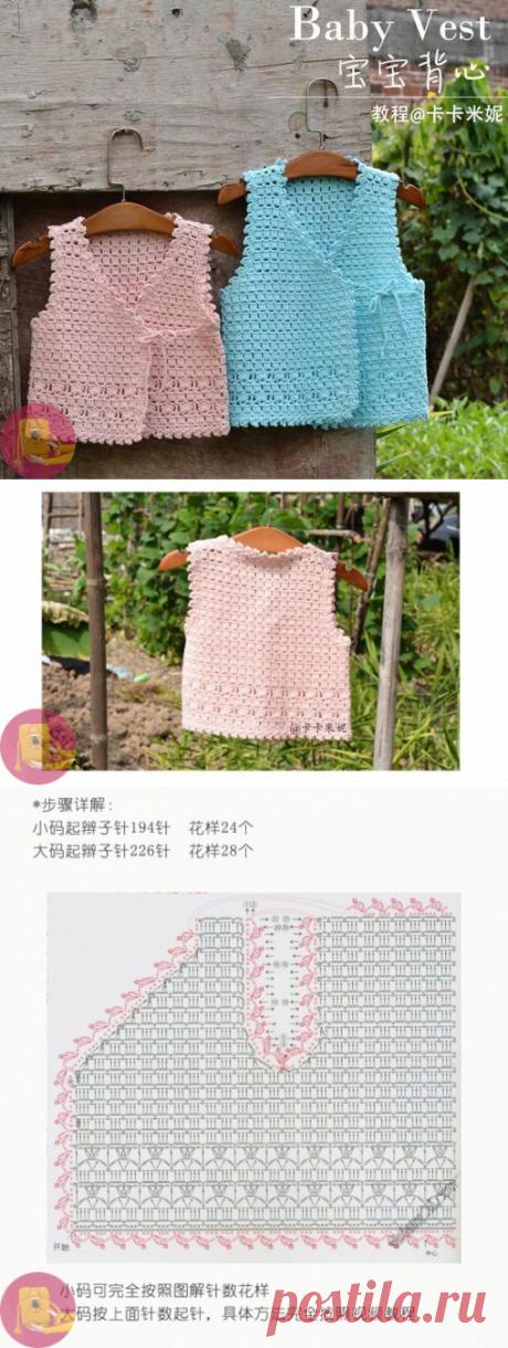 Простые и невероятно красивые жилетки крючком — Сделай сам, идеи для творчества - DIY Ideas