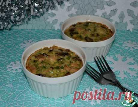 """Порционная горячая закуска """"Куриный кекс-гратен"""" – кулинарный рецепт"""