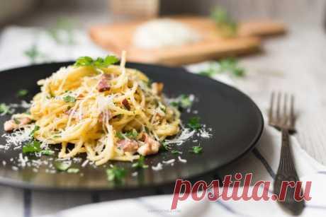 Паста карбонара «Pasta alla carbonara» — Sloosh – кулинарные рецепты