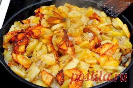 Как приготовить жарим картошку правильно.  - рецепт, ингредиенты и фотографии