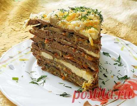 Печёночный торт - вкусно и не сложно (подробный рецепт)