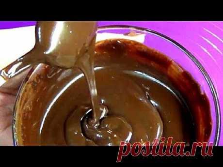 Супер глазурь из шоколада  И делать ее проще не куда