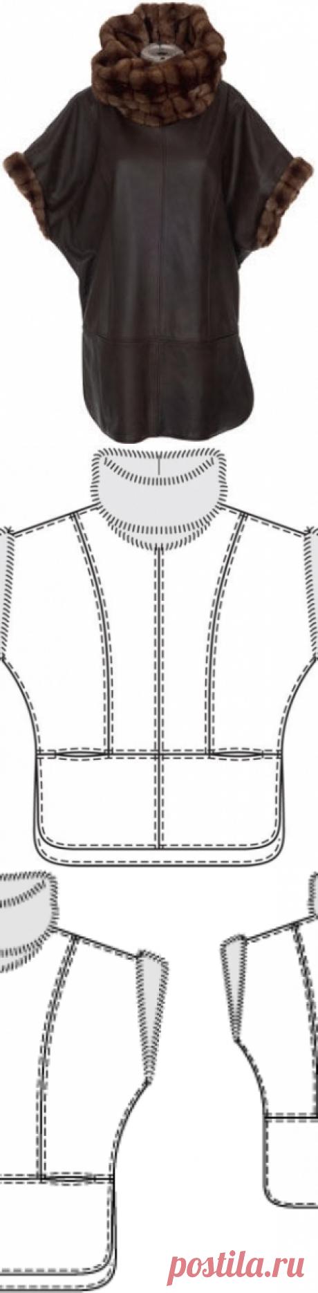 Kazakin - a pattern No. 132 of the magazine 10\/2012 Burda – a pattern of vests on Burdastyle.ru
