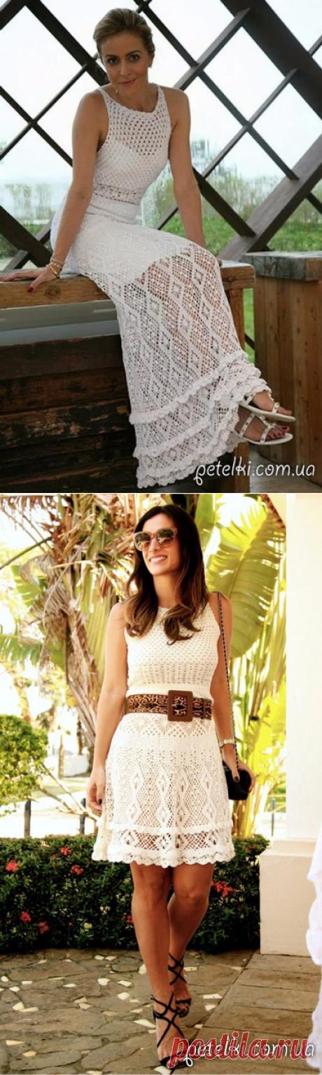 Платье Erica от Giovana Dias. Схемы вязания крючком