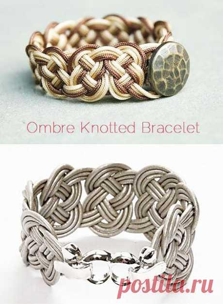 Плетеные браслеты своими руками из шнурков   Рукоделие   Treasurebox - пошаговые мастер-классы
