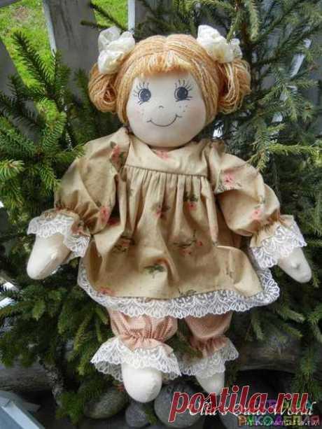 Выкройка замечательной куколки из блога Ulla's Quilt World - Игрушки - Рукоделие и творчество - Рукоделие