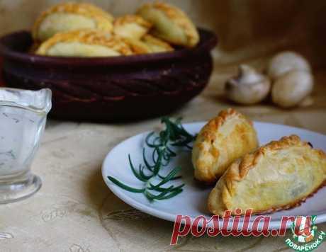 Кибинай с курицей и грибами – кулинарный рецепт