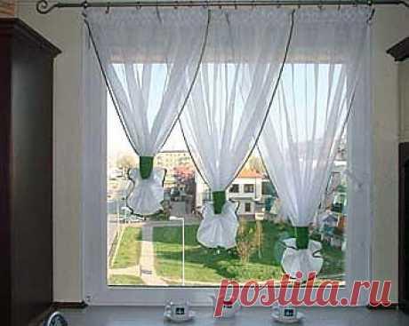 Simple, pero las cortinas interesantes a la cocina \/ las Cortinas \/ el sitio A la moda sobre el rehacimiento de estilo de la ropa y el interior