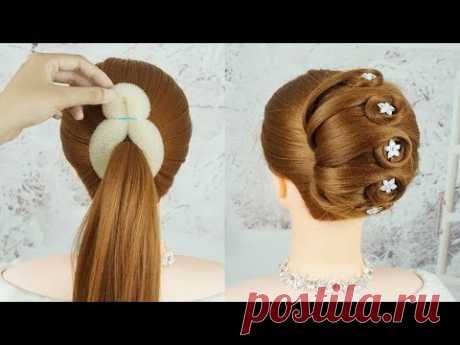 Прическа На Свадьбу - Красивые Прически Женские 2019 | Easy French Roll Hairstyle With Clutcher