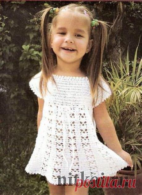 Подборка великолепных детских летних платьев вязаных крючком. СХЕМЫ