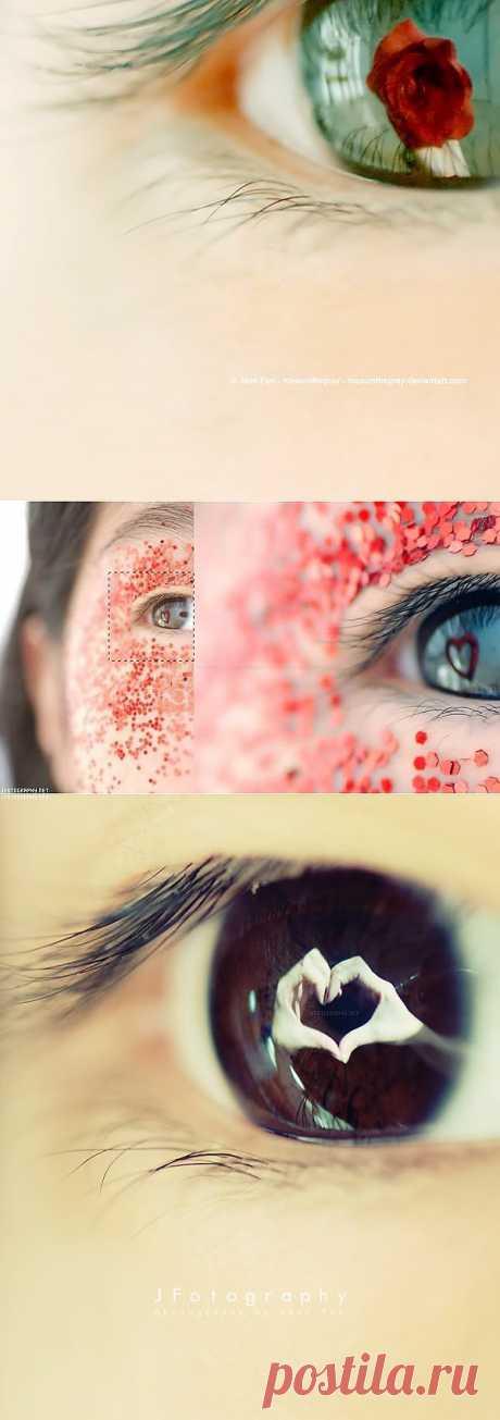 Como fotografiar el reflejo en los ojos: las ideas y la técnica del retiro