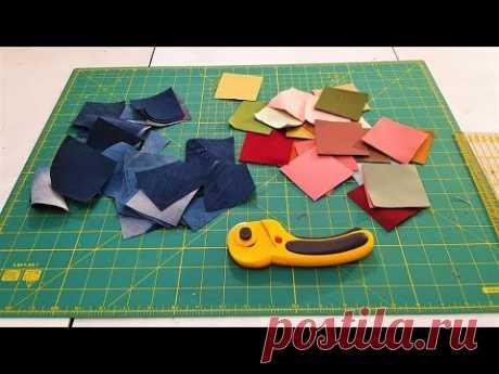 Оригинальное собирание квадратных лоскутков ткани. Лоскутное шитье маленькой сумки, своими руками. - YouTube