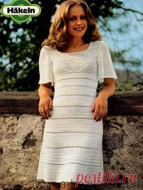 Винтажное платье крючком. Вязаные платья крючком с описанием и схемами