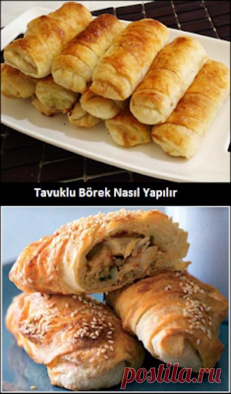 Tavuklu Börek Nasıl Yapılır Tavuklu Börek Nasıl Yapılır Malzemeleri  (6 kişi için) 3 adet Yufka