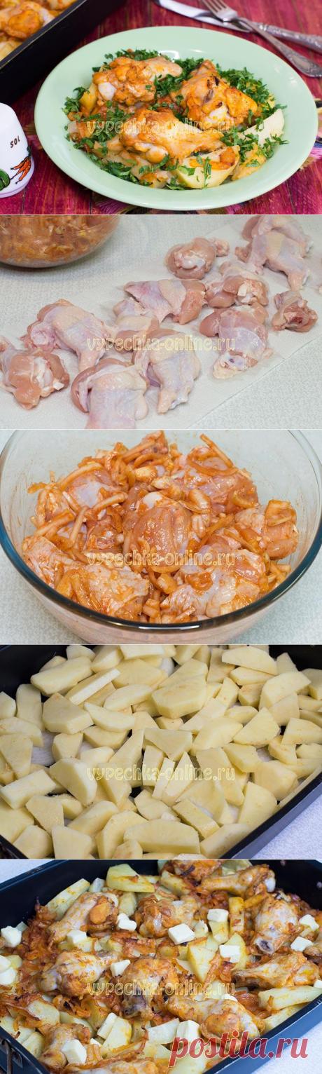 ✔️Куриные крылышки с картошкой в духовке - рецепт с фото и видео