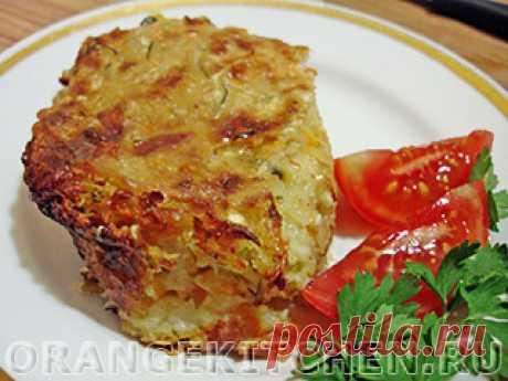 Овощная запеканка с капустой и кабачком