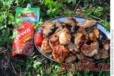 Пальчики оближешь: шашлык из филе куриного бердра в чесночном маринаде