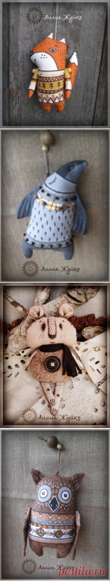 Авторские игрушки Жуйко Лилии. Алтайские зверята.