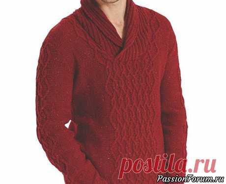 """Пуловер """"Страум""""   Вязание для мужчин спицами. Схемы вязания"""