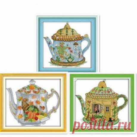 Scarecrow teapot , cross stitch kit, cross stitch, modern cross stitch, handmade, needlework, craft gifts, embroidery, embroidery kit, kit Scarecrow teapot , cross stitch kit, cross stitch, modern cross stitch, handmade, needlework, craft gifts, embroidery, embroidery kit, kit  ☻ More cross stitch kits : https://www.etsy.com/shop/OscolShop?ref=seller-platform-mcnav§ion_id=24630773  ► Include: Canvas Cotton (without printing)