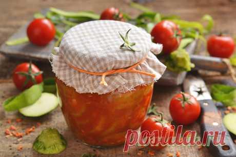 Кабачки в томате на зиму: обалденный пошаговый рецепт