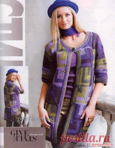 Knitted jacket a patchwork - Knitting - the Country of Mothers