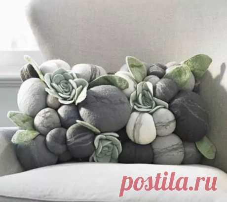 Текстильные камни в домашнем декоре   Рукодельные заметки