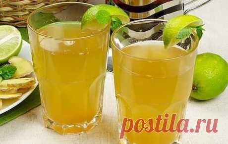 Бодрящий напиток из лайма и имбиря для тех, кто ждёт лета и солнца.