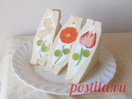 Цветочные бутерброды