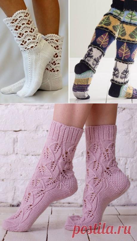 Красивые вязаные носки: 40 идей ~ Свое рукоделие