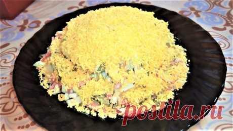 """Салат """" Соломка"""" Сытный и яркий салат из доступных продуктов порадует вас своим вкусом! — Кулинарная книга - рецепты с фото"""