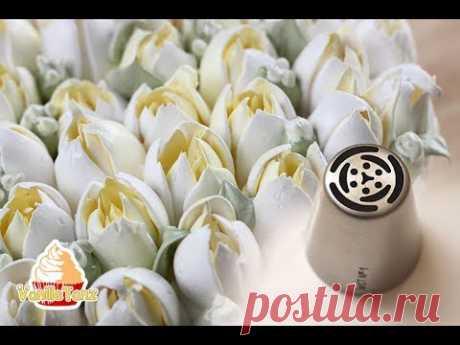 Los consejos prácticos de la fabricación de los tulipanes de la crema albuminada por medio de las toberas rusas
