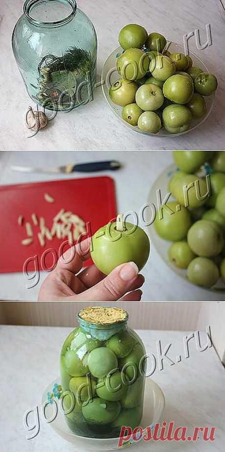 Соленые зелёные помидоры с горчицей. Помидоры получаются очень ядрёные, кисло-солёные, как бочковые.
