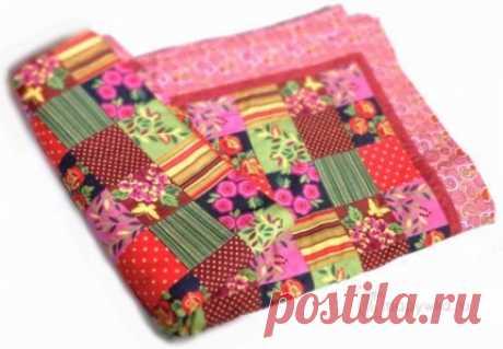 Лоскутное одеяло в розовой гамме - купить | Пэчворк, лоскутное шитье | HANDMADE интернет-магазин