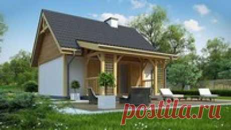 Проект летнего коттеджа 35 m² | Компания ДОМ4М в России