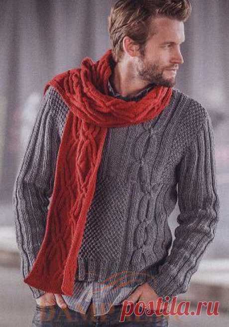 Мужской пуловер в стиле «Пэчворк» | DAMские PALьчики. Ru