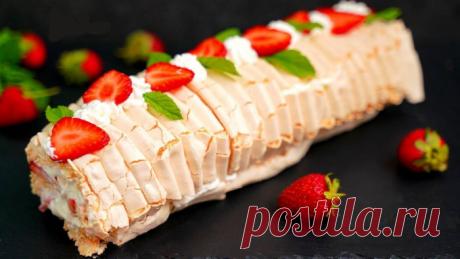 Самый модный десерт лета 2020: «Меренговый рулет». Очень рекомендую приготовить!