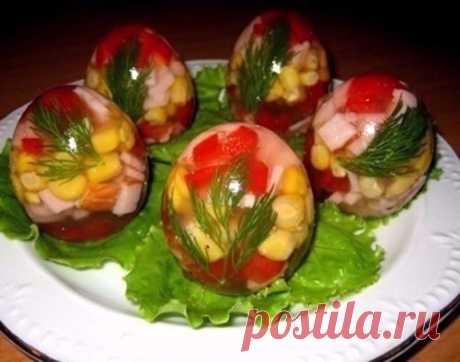 Заливные яйца к Вашему пасхальному праздничному столу