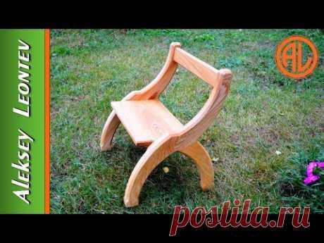 Необычный деревянный стул. Мебель из дерева  / DIY Wooden chair.  Ash