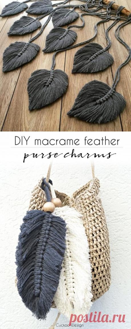 Перышки макраме DIY - идеи для вдохновения | Anna Gri Crochet | Яндекс Дзен