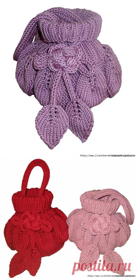 Интересная сумочка с листьями от дизайнера Kristiina Temin.