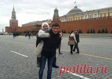 Внук из Бишкека исполнил мечту бабушки