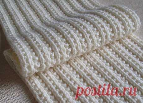 Двухсторонние узоры спицами для шарфов, снудов.