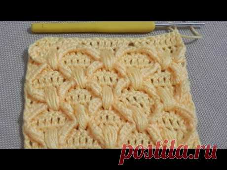 Şahane fıstıklı baklava modeli #handmade #crochet #easy #pattern #stitch #tutorial