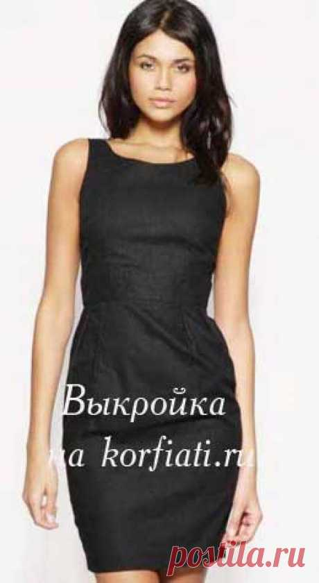 Платье-футляр в стиле Шанель выкройка А. Корфиати